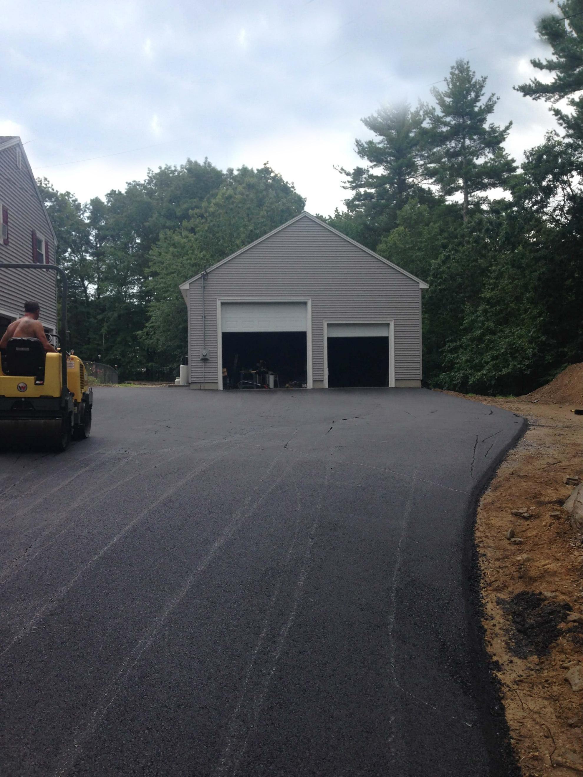 asphalt driveway - no wires